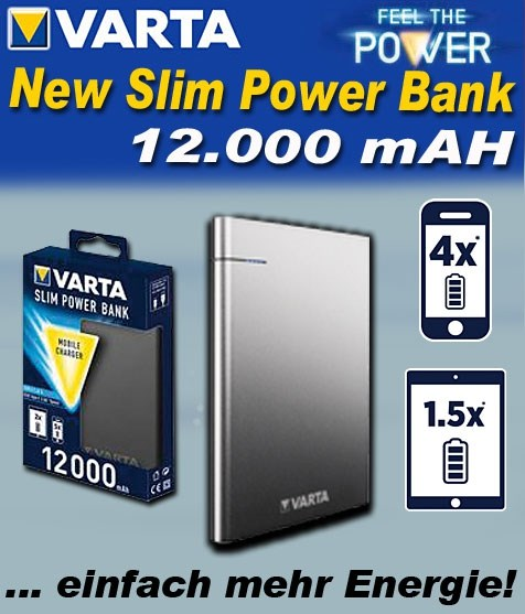 Bild von Varta New Slim Power Bank 12.000 mAh