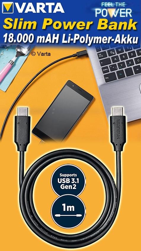 "VARTA USB-Adapterstecker /""Wall Charger/"" schwarz"
