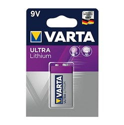Bild von Varta Professional 9V Ultra Lithium E-Block Batterie, ideal für Rauchmelder / V6122 - 1er Blister