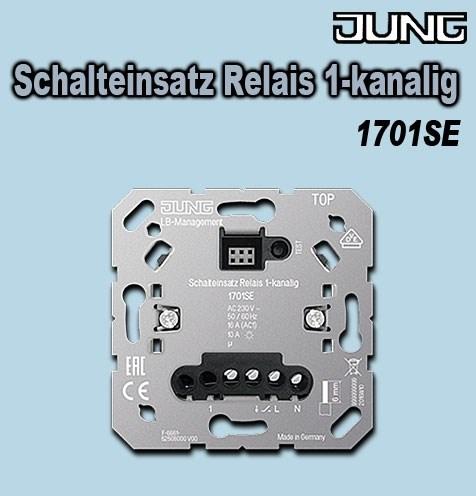 Jung Schalteinsatz 1701SE Relais 1-kanalig
