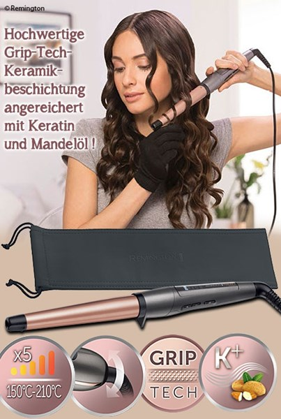 Bild von Remington Keratin Protect kegelförmiger Lockenstab 19-28 mm mit digitalem Display CI83V6
