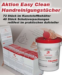 Bild von Cellpack Aktionspaket Easy Clean-Handreinigungstücher