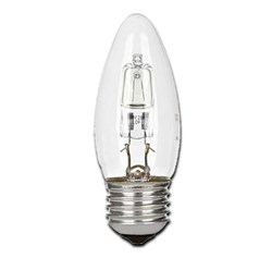 Bild von Energy Reducing-Halogenkerzenlampe / 405 Lumen / 30W / E27 / 240V / 2.800K / Warmweiß klar dimmbar