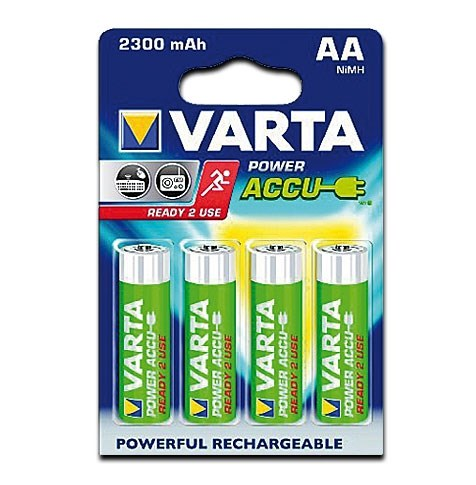 Bild von VARTA NI-MH POWER AKKU Ready to Use AKKU Mignon / 2.300mAh / 1,20V / V56726 - 4er Blister