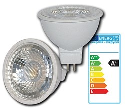 Bild von Rightlite LED-Reflektorlampe MR16 / 300 Lumen / 5W / GU5.3 / 12V / 38° / 3.000K / Warmweiß matt / A+
