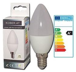 Bild von Rightlite LED-Kerzenlampe C37 / 470 Lumen / 6W / E14 / 230V / 160° / 3.000K / Warmweiß matt / A+
