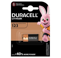 Bild von DURACELL ULTRA PHOTO LITHIUM 3V / 1.400mAh / DL123A / CR17345 - 1er Blister