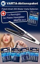 Bild von Varta Aktionspaket Longlife Power Large Package + 1 x Rem. Air Plates Haarglätter GRATIS!