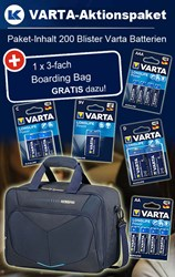 Bild von Varta Aktionspaket Longlife Power Large Package mit 200 Blister und 1 x Boarding Bag GRATIS